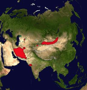 distribución asno salvaje de asia